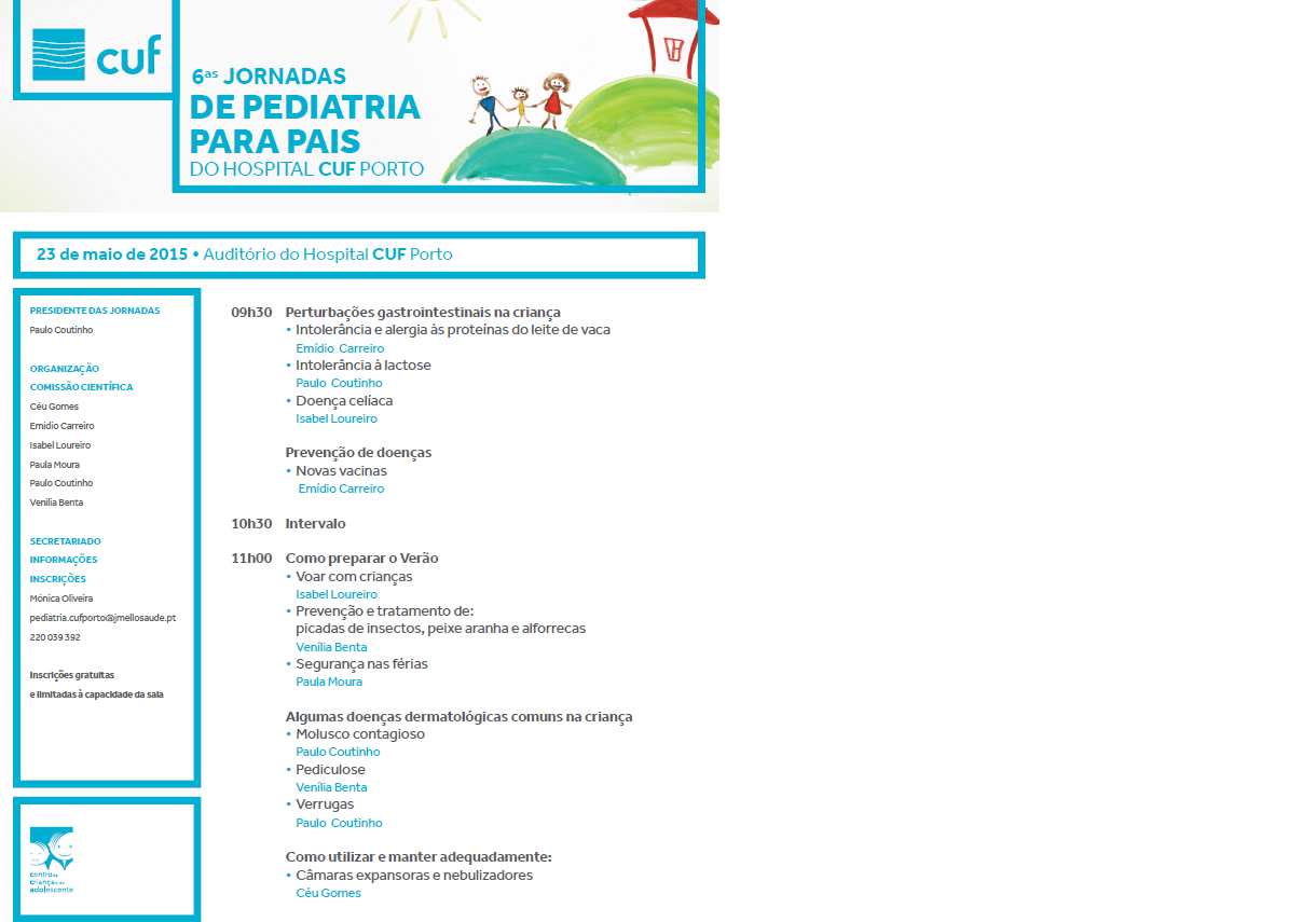 6as jornadas de pediatria pais flyer